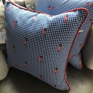 Set 2 Vineyard Vines Target Pillow Flag Gingham
